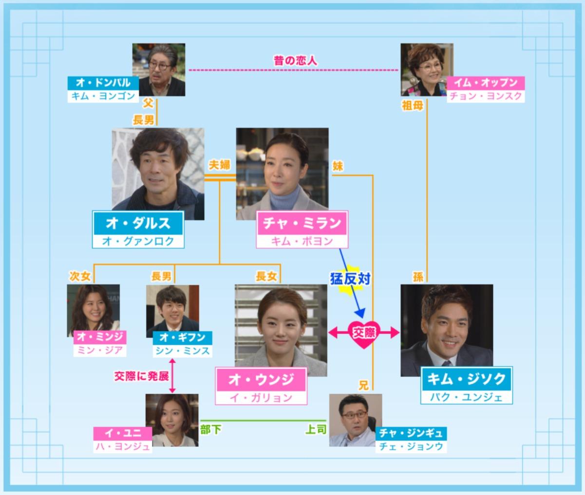 韓国ドラマ『不屈の婿』登場人物相関図(関係図)